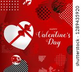 happy valentines day typography ...   Shutterstock .eps vector #1289435920