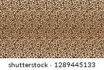 leopard print pattern. seamless ... | Shutterstock .eps vector #1289445133