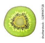 Slice Of Fresh Kiwi Fruit...