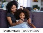 happy smiling african american... | Shutterstock . vector #1289448829