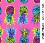 seamless exotic pattern. bright ... | Shutterstock .eps vector #1289454436