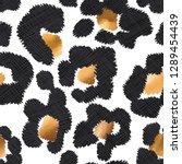 seamless exotic pattern. black... | Shutterstock .eps vector #1289454439