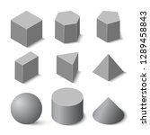 set of geometric shapes in...   Shutterstock .eps vector #1289458843