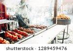 christmas market. new year's...   Shutterstock . vector #1289459476