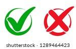 set check mark and cross in... | Shutterstock .eps vector #1289464423