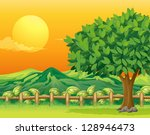 illustration of a tree and a... | Shutterstock . vector #128946473