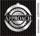 approach silver shiny emblem | Shutterstock .eps vector #1289470456