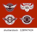 wing classic vintage | Shutterstock .eps vector #128947424