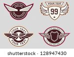wing classic vintage | Shutterstock .eps vector #128947430