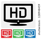 high definition television... | Shutterstock .eps vector #128948459