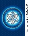 merkaba   star tetrahedron  ... | Shutterstock . vector #128948690