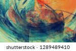 abstract blue and orange... | Shutterstock . vector #1289489410