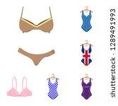 vector illustration of bikini... | Shutterstock .eps vector #1289491993