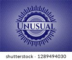 unusual badge with denim... | Shutterstock .eps vector #1289494030