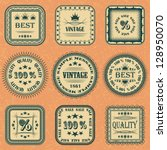 vector collection of labels on... | Shutterstock . vector #128950070