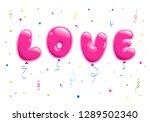 set of sticker for valentine's...   Shutterstock .eps vector #1289502340
