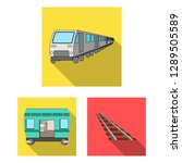 vector illustration of railroad ... | Shutterstock .eps vector #1289505589