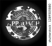 approach grey camo emblem | Shutterstock .eps vector #1289505880