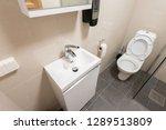 interior of luxury toilet with... | Shutterstock . vector #1289513809