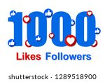 thank you for 1000 followers ... | Shutterstock .eps vector #1289518900