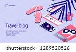work desk   banner landing page....   Shutterstock .eps vector #1289520526