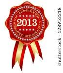 2013 red diamond frame   Shutterstock .eps vector #128952218