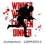 silhouette of a running soldier ... | Shutterstock .eps vector #1289530513