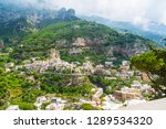 houses on the hill in positano. ... | Shutterstock . vector #1289534320