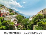 world famous positano on a... | Shutterstock . vector #1289534329