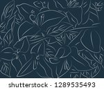 tropical floral pattern... | Shutterstock .eps vector #1289535493