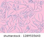 tropical floral pattern... | Shutterstock .eps vector #1289535643