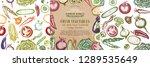 farm vegetables big . eco food... | Shutterstock .eps vector #1289535649