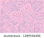 tropical floral pattern... | Shutterstock .eps vector #1289536300