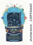 magic typewriter. symbol of... | Shutterstock .eps vector #1289536660