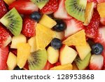 Top View Of A Fruit Salad With...