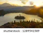aerial  lens flare  golden... | Shutterstock . vector #1289541589