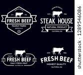 set of premium beef labels ...   Shutterstock .eps vector #1289546086