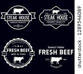 set of premium beef labels ...   Shutterstock .eps vector #1289546089
