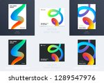 abstract design brochure in... | Shutterstock .eps vector #1289547976