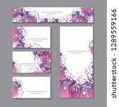 cute templates with abstract... | Shutterstock .eps vector #1289559166