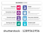 set of 8 white business icons... | Shutterstock .eps vector #1289561956