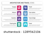 set of 8 white architecture and ... | Shutterstock .eps vector #1289562106