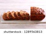 Small photo of Barm brack traditional irish fruit bread, sliced