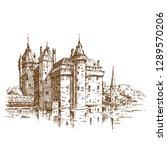 de haar castle. engraving | Shutterstock .eps vector #1289570206