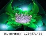 exotic flower.3d abstract...   Shutterstock . vector #1289571496