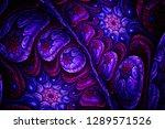 3d abstract fractal background. ...   Shutterstock . vector #1289571526