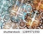 3d abstract fractal background. ...   Shutterstock . vector #1289571550