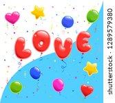 set of sticker for valentine's...   Shutterstock .eps vector #1289579380