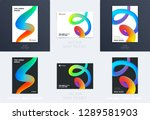 abstract design brochure in... | Shutterstock .eps vector #1289581903