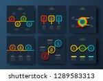 abstract dark infographics... | Shutterstock .eps vector #1289583313